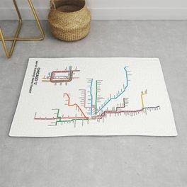 Chicago CTA Map, Chicago Wall Art, CTA Art Print Rug
