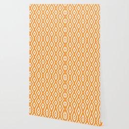 Orange Diamond Pattern Wallpaper