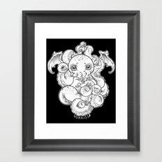 Cthulhu (B&W Version I) Framed Art Print