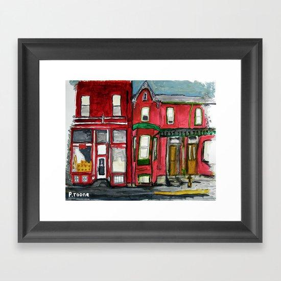 Red Brick House Framed Art Print