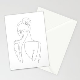dissol - one line art Stationery Cards