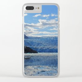 Blue on Blue on Blue Clear iPhone Case
