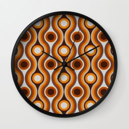 Older Patterns ~ Waves 70s Wall Clock
