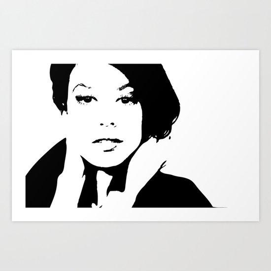 Black & White Beauty Art Print