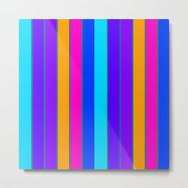sTRIPES Colorful  Metal Print