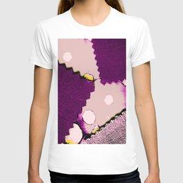 PURPLE PATCHWORK T-shirt