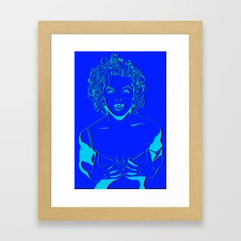 Lady in Yellow Framed Art Print
