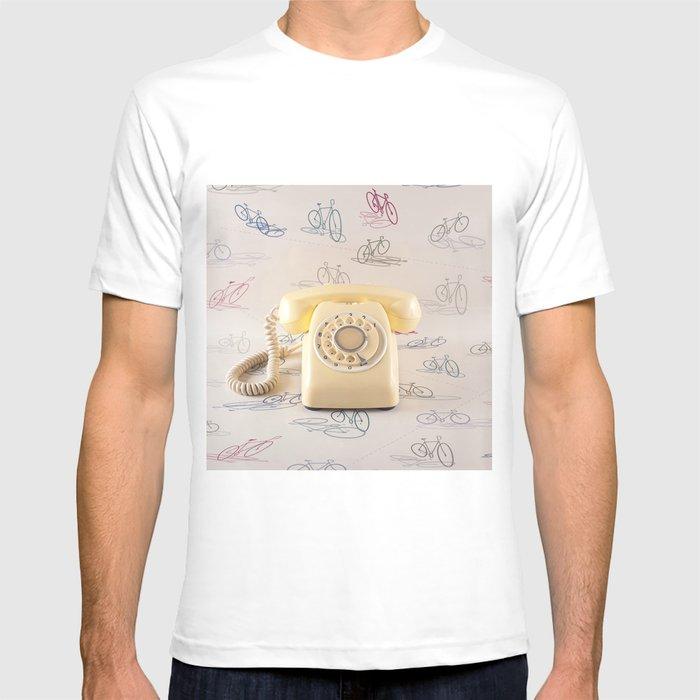 The yellow retro telephone  T-shirt