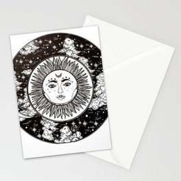 Moon. Stationery Cards