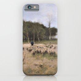 12,000pixel-500dpi - Anton Rudolf Mauve - Heide near Laren - Digital Remastered Edition iPhone Case