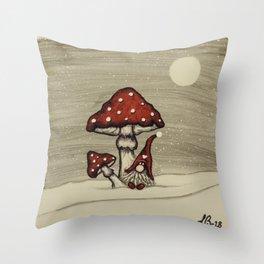 """""""Tomten Elmer"""" playing hide and seek. Throw Pillow"""