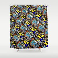 scales Shower Curtains featuring Scales by David  Gough