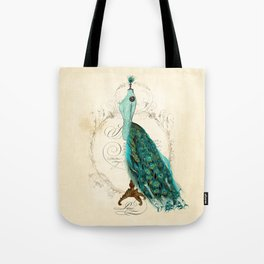 Peacock bustle mannequin Tote Bag