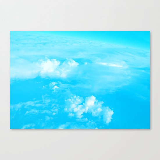 Aerial Turquoise Clouds Canvas Print