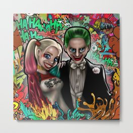 Joker and Harley Metal Print