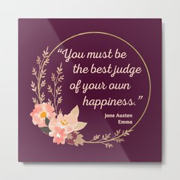 Emma By Jane Austen Quote I - Cute Style Metal Print