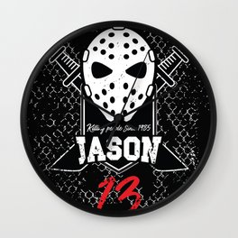 Friday 13. Jason portrait Wall Clock