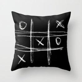 Tic-tac-toe Morpion Throw Pillow