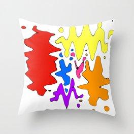 Splodged  Throw Pillow