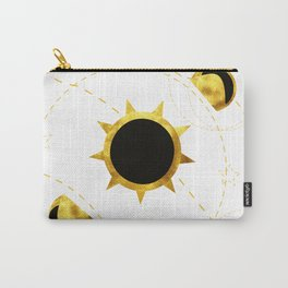 Solar eclipse white Carry-All Pouch