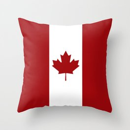 Canada: Canadian Flag (Red & White) Throw Pillow