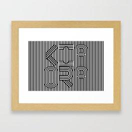 KiaOra New Zealand Greeting Framed Art Print