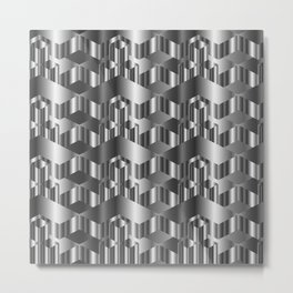 High grade metal texture- reflective mirrored surface Metal Print