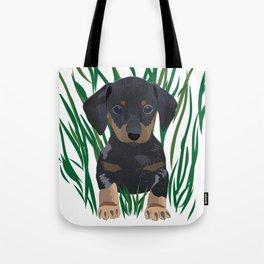 Sausage Dog Design Tote Bag