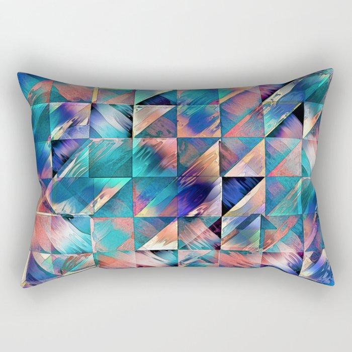Textural Reflections of Turquoise Rectangular Pillow