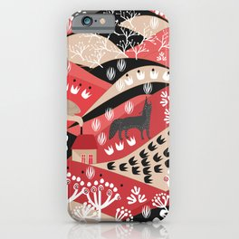 Wolf's Promise Land iPhone Case