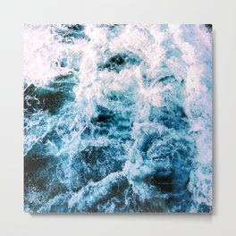 Huntington Beach Waves Metal Print