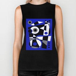 Abstract #505 Blue Biker Tank