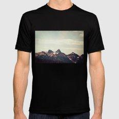 Mountain Ridge Morning Mens Fitted Tee Black LARGE