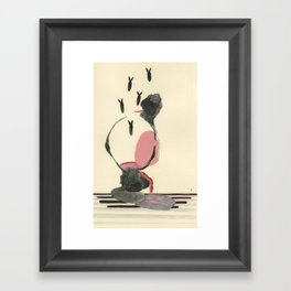 what goes in... Framed Art Print