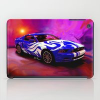 mustang iPad Cases featuring Wild Mustang by JT Digital Art