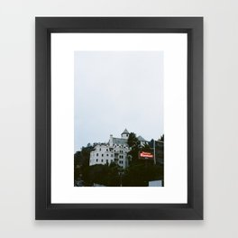 Looming Chateau Marmont Framed Art Print