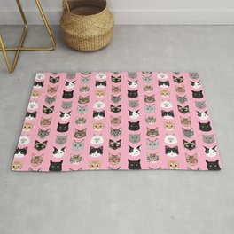 Cute Cat breed faces smiling kitten must have gifts for cat lady cat man cat lover unique pets Rug