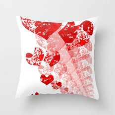 Heart - Red Throw Pillow