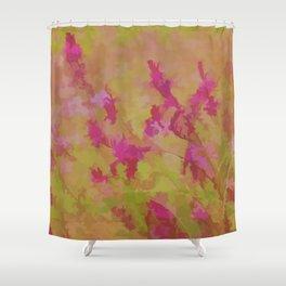 Pink Splatter Garden Shower Curtain