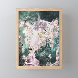 Halloween Haunted House high hair Coiffure Framed Mini Art Print