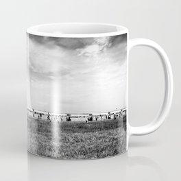 Fields of the Elysium Locomotive Street Photography BW Art Coffee Mug