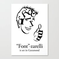 font Canvas Prints featuring 'Font'-zarelli by Christian Bailey