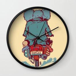 Crime In Progress Wall Clock