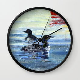 loons Wall Clock