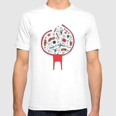 holding it all together White Mens Fitted Tee MEDIUM