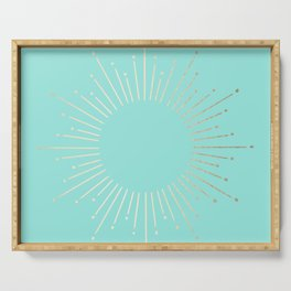 Simply Sunburst in Tropical Sea Blue Serving Tray