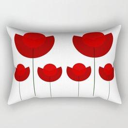 Simple red Tulips Rectangular Pillow