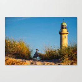 Old lighthouse from Hanseatic city of Rostock Canvas Print