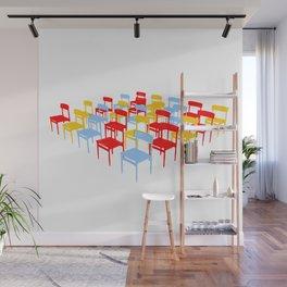 25 Chairs Wall Mural