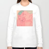 cuddle Long Sleeve T-shirts featuring CUDDLE by FISHNONES